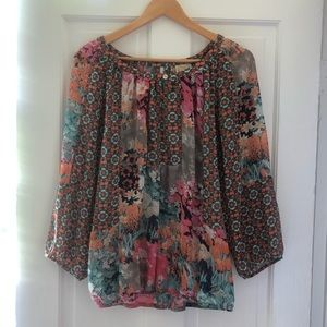 Gorgeous Fig and Flower Patterned Shirt